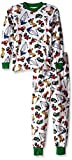Sara's Prints Little Boys' Super Soft Relaxed Fit Pajama Set, Heavy Loaders, 2