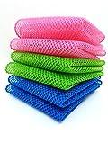 net cloth scrubber - OliviaTree premium kitchen dish towel 6pack,dish cloth,dish scrubber,mesh wash net