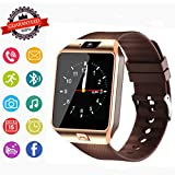 Smartwatch, Bluetooth Watch and Unlocked Watch Cell Phone all in one for Android Smartphones Samsung Sony LG and IOS iPhone–golden