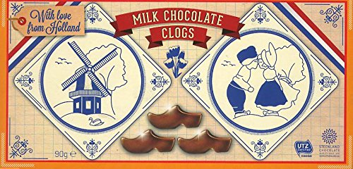 Steenland Klompjes Fine Milk chocolate / Chocolate au lait superfine / Clogs made off milk chocolate 2 Pack with ea 16pcs