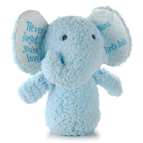 Hallmark Baby Personalized Lil' Peanut Blue Plush Elephant Stuffed Animal