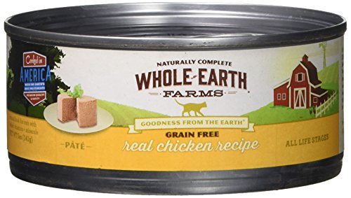 Whole Earth Farms 295246 Grain Free Real Chicken Recipe Pâté Canned Cat Food, One Size