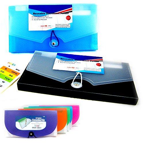 13 Pocket Expanding Document File Accordion Organizer School