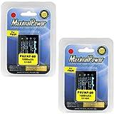 MaximalPower Replacement Battery for Fuji NP60,Casio NP30,Olypmus Li20B,Pentax D-Li2,Kodak K-5000 and Samsung SLB-1037 2 Pack