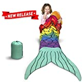 EasyGoProducts EGP-BAG-002 Kids Slumber Party Mermaid Tail-Real Zippered Sleeping Bag not just a Blanket-Poly Filled for Warmth, None