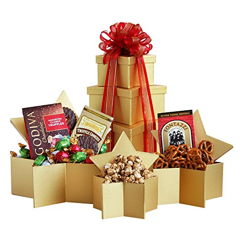 Holiday Superstar Gift Tower of Goodies by California Delicious