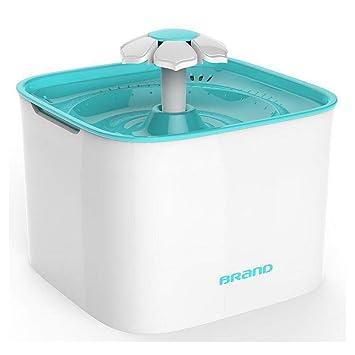 YAMEIJIA Fuente de Agua Gato automático disPensador de Agua para Mascotas con Bomba silenciosa, Filtro