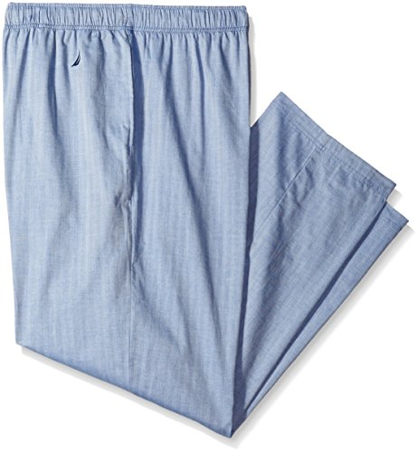 Nautica Men's Big-Tall Blue Herringbone Sleep Pant, Cornflower, 3X-Large/Tall (Mens Tall Bottoms)