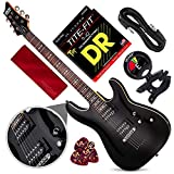 Best Schecter Beginner Guitars - Schecter OMEN-6 6-String Electric Guitar (Black) with Clip-On Review