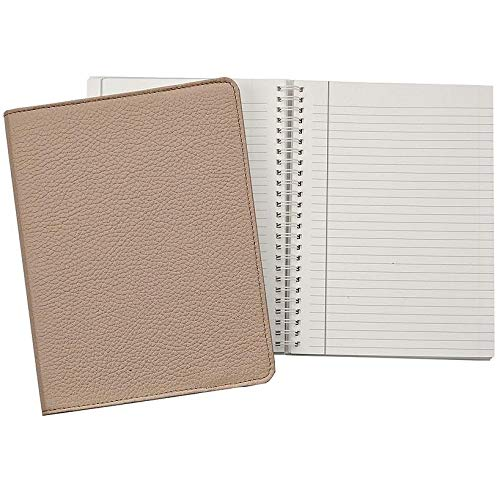 Wire-O-Notebook 9-inch Sand Pebble Grain Fine Leather by Graphic Image™ - 7x9