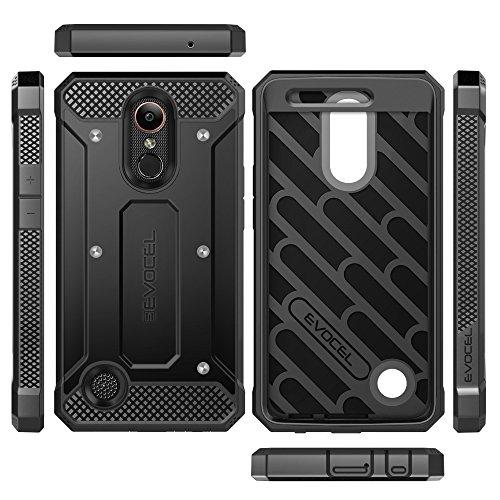 LG K20 Plus Case, Evocel [Explorer Series] with FREE [LG K20 Plus Glass Screen Protector] Premium Full Body Case [Slim Profile][Rugged Belt Clip Holster] For LG K20 Plus / K20 V / LG Harmony, Black by Evocel (Image #2)