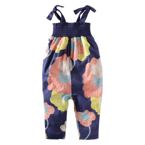 Tea Collection Baby Girls' Two Tie Surf Lily Romper