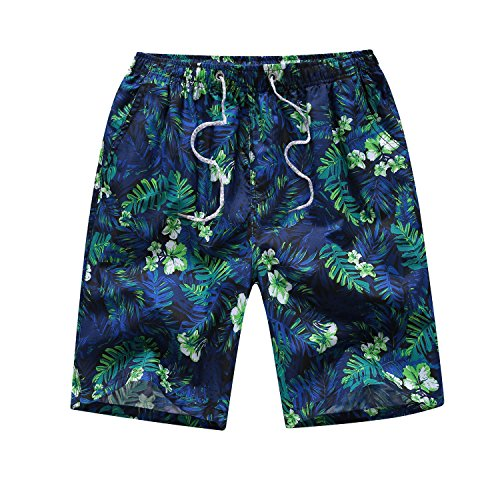 Justay Men's Printing Quick Dry Beach Shorts Swim Trunk by Justay
