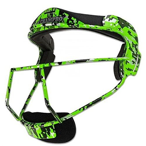 CHAMPRO CM01 FIELDERS FACE MASK SOFTBALL CP Lime YOUTH6.25-6.75