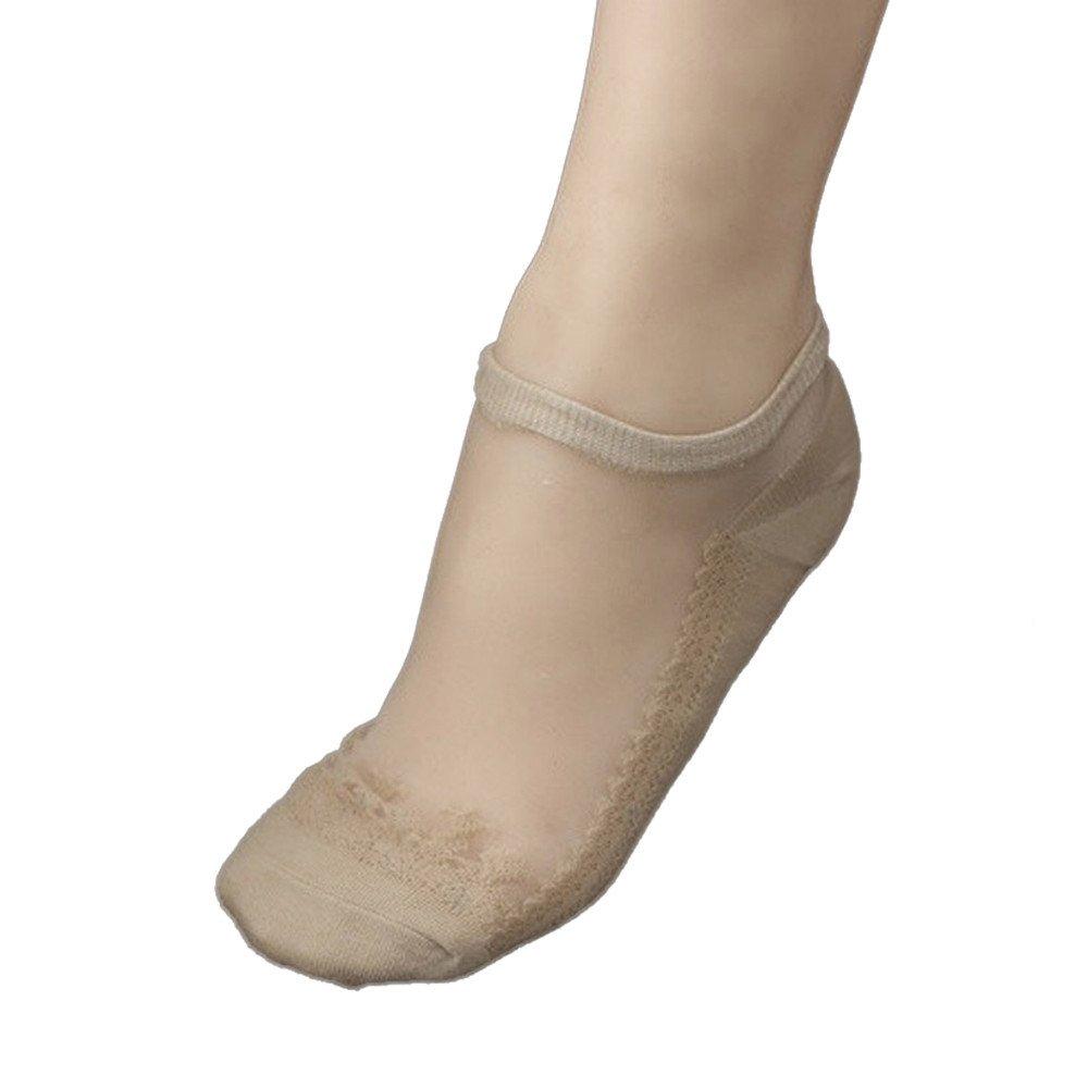 YAliDa 2019 clearance sale Ultrathin Transparent Beautiful Crystal Lace Elastic Short Socks