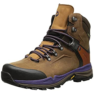 Merrell Women's Crestbound Gore-Tex Hiking Boot,Brown Sugar/Purple,9 M US