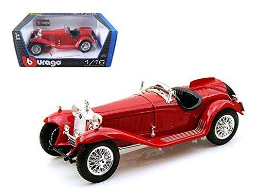 1932 Alfa Romeo 8C 2300 Spider Touring Red 1/18 Diecast Model Car by Bburago 12063r (2300 Spider)