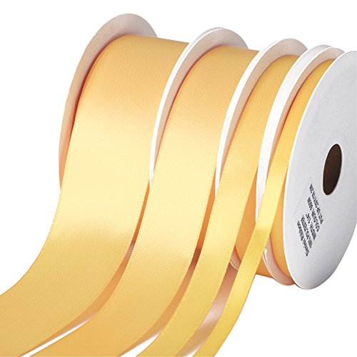 - Double-Face Satin Ribbons, 4 Assorted Sizes (1/4
