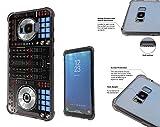 001061 Dj Mixer Turntable Vintage Retro Music Dance Clubber RnB Hip Hop Rave Club Samsung Galaxy S8+ Plus Corner Airbag Shockproof Case All Edges Protection Gel&Hard plastic Defender Slim Cover Black
