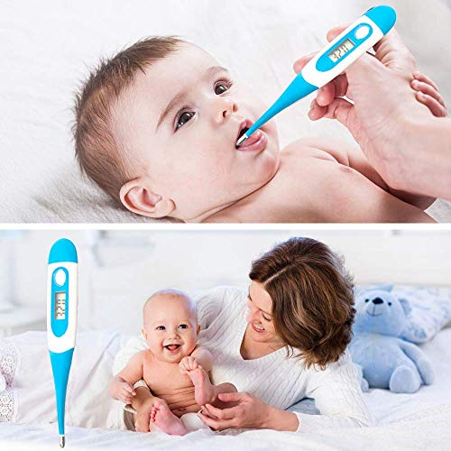 Medical Digital Thermometer for Fever for Oral,Rectal and Underarm, Clinical Detecting Body Temperature in Infants, Children and Adults