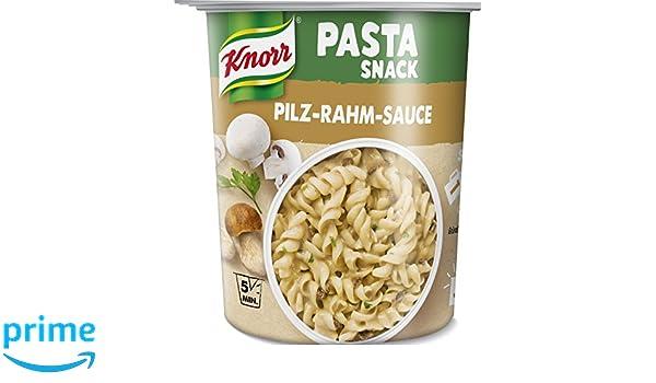 Knorr Snack Bar Pasta Snack Seta Salsa Crema 1 porción (8 x 70 g): Amazon.es: Alimentación y bebidas