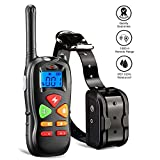Training Dog Collar - Wiscky Shock Collar for Dogs Dog Training Collar with Remote for Small Medium Large Dogs, [2018 Upgraded Version] 1800ft Waterproof Rechargeable with Beep/Vibration/Electric Shock