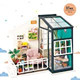 Rolife Wooden Puzzle-Mini House-Wood Construction Kit-3d Wooden Puzzle-Ideal Birthday for Boys Girls Women and Friends(Balcony)
