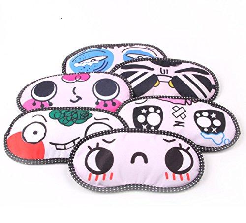 Funny Face Masks (FinalZ 6pcs Cute Cartoon Funny Novelty Face Sleeping Eye Mask (Random))