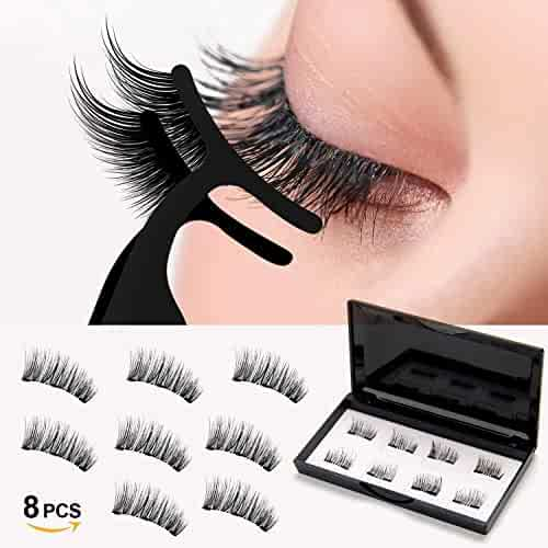 7ac24b910a8 Magnetic Eyelashes,3D Reusable Natural Full Eye Deluxe Ultra No Glue Dual  Thin Magnetic Eyelashes