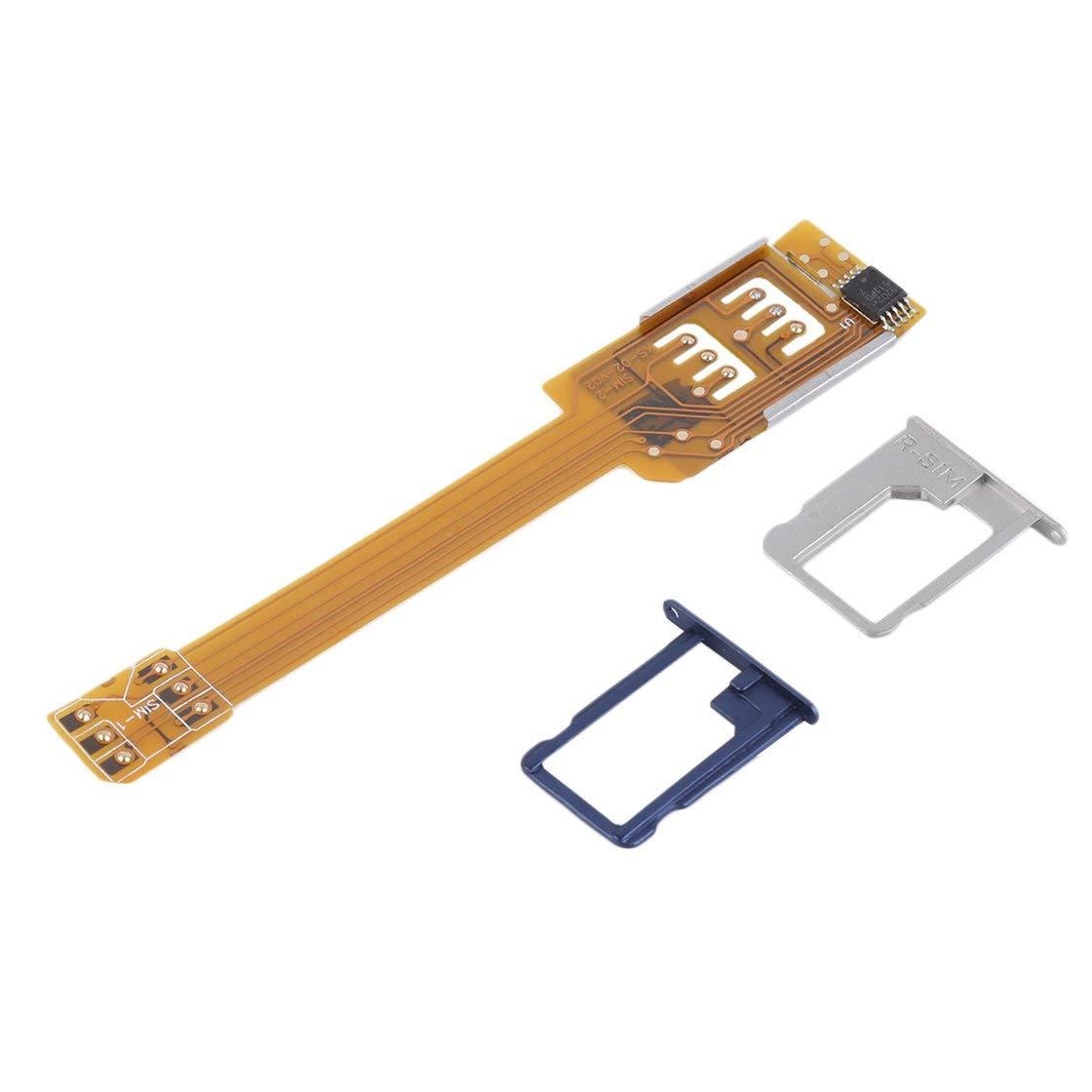 Adaptateur Double Carte SIM Jaune Dur pour téléphone Mobile Utiliser Deux Cartes SIM pour Samsung Pas Besoin de Couper Votre Carte SIM