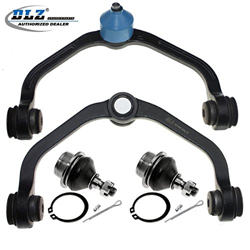 DLZ 4 Pcs Front Suspension Kit-Upper Control Arm Lower Ball Joint Compatible with 1998-2011 Ford Ranger 2001-2009 Mazda B2300 2WD 1998-2007 Mazda B3000 1998-2001 Mazda B2500 4WD 1998-2003 Mazda B4000 (Replacement Ford Joint Ball)