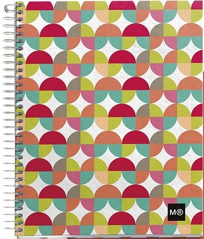 Miquelrius 4-Subjects Cardboard Notebook, Large 8.5