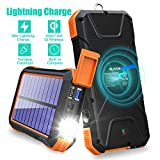 BLAVOR Solar Charger Power Bank 18W, QC 3.0