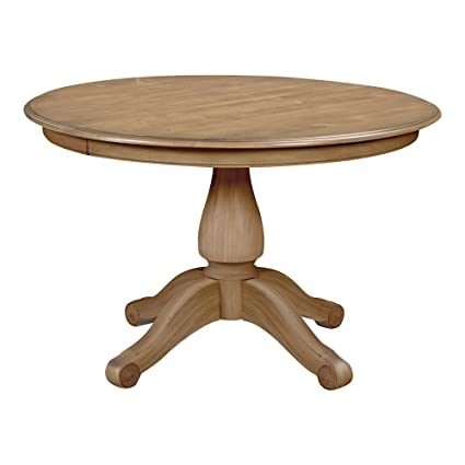Awesome Ethan Allen Adam Round Pedestal Dining Table, Rye
