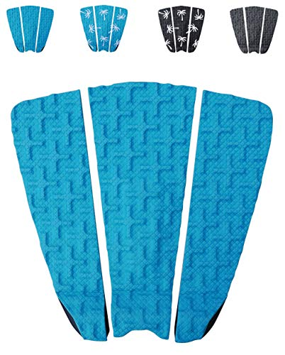 Ho Stevie! Premium Surfboard Traction Pad [Choose Color] 3 Piece, Full Size, Maximum Grip, 3M Adhesive, for Surfing or Skimboarding ()