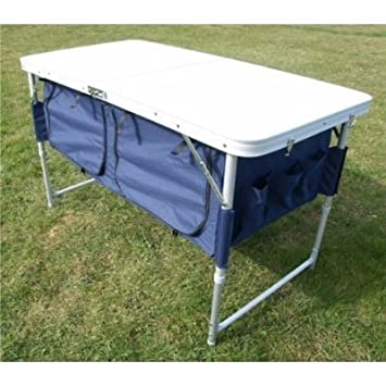Merveilleux Folding Camping Table / Picnic Table With Extra Storage Underneath