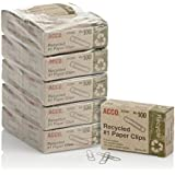ACCO Recycled Paper Clips, 100/Box, 10 Pack (72365)