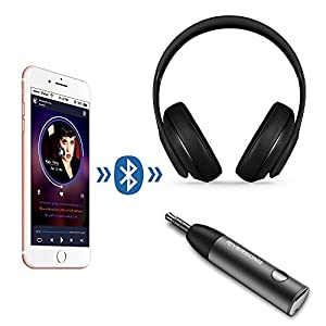 Mini Bluetooth Receiver, RIVERSONG Wireless Bluetooth 4.1 Receiver Aux Receiver Adapter, Hands-Free Car Kits 3.5mm Bluetooth Audio Jack Receiver for Audio Stereo System Headphone Speaker (Black)