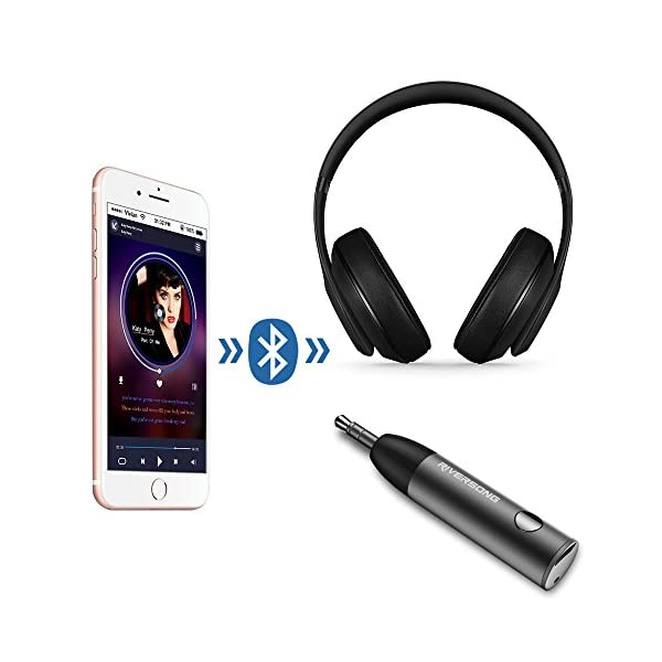 Mini Bluetooth Receiver RIVERSONG Wireless Bluetooth 41 Receiver Adapter Bullet Hands Free Car Kits With 35mm Aux Jack Receiver For Audio Stereo System Headphone Speaker