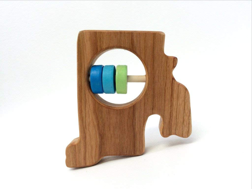 Rhode Island State Wooden Baby Rattle ™