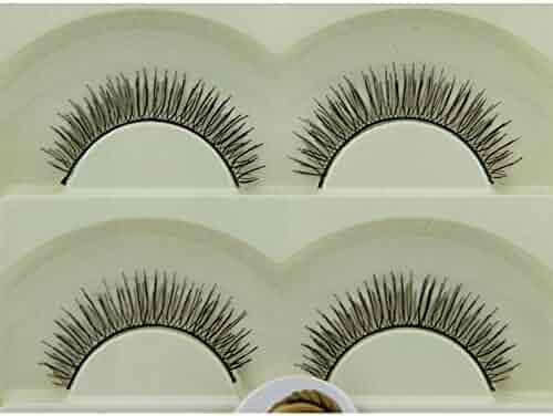 3b6ad780335 Aiweikang 5 Pairs Makeup Soft Natural Eye lashes Extension Cross Black and  Brown Eyelashes