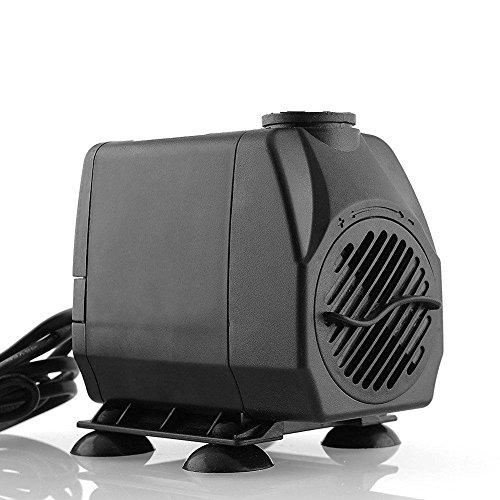 Amzdeal Bomba de agua Bomba para acuario y circulación de agua 25W 1200L / H max. 2m de altura Manguera de agua (19mm, 16mm, 13mm)