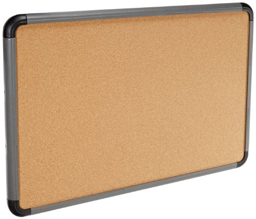 - Iceberg ICE35037 Ingenuity Cork Bulletin Communication Board with 1-Piece Dent/Scratch Resistant Frame, 36