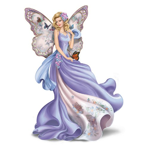 The Hamilton Collection Figurine: Lena Liu Fluttering Faith Alzheimers Awareness Angel Figurine