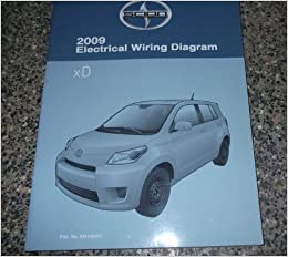 2009 toyota scion xd xd electrical wiring diagram service shop repair manual:  toyota: amazon com: books