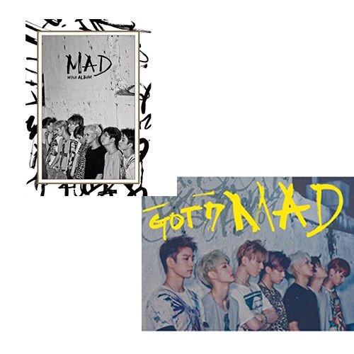 GOT7 [MAD] 4th Mini Album Vertical/Horizontal Random Ver CD+52p Photobook+1p Phtocard+Tracking Number
