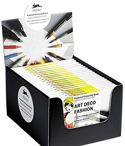 Art Deco Fashion Display Box : Display Box with 20 Postcard Colouring Books by Pepin Press