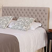 Best Selling 346458 A346458 Jezebel Button Tufted Fabric Headboard, King/California King