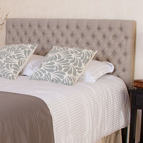 Denise Austin Home Cannes Adjustable King/California King Fabric Headboard (California Headboard Fabric King)