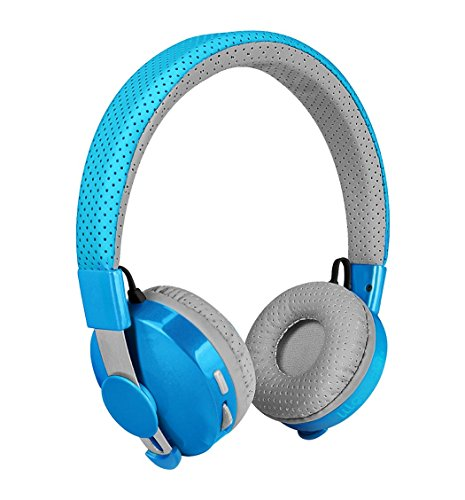 LilGadgets Untangled Pro Premium Children's / Kid's Wireless Bluetooth Headphones with SharePort (Blue)
